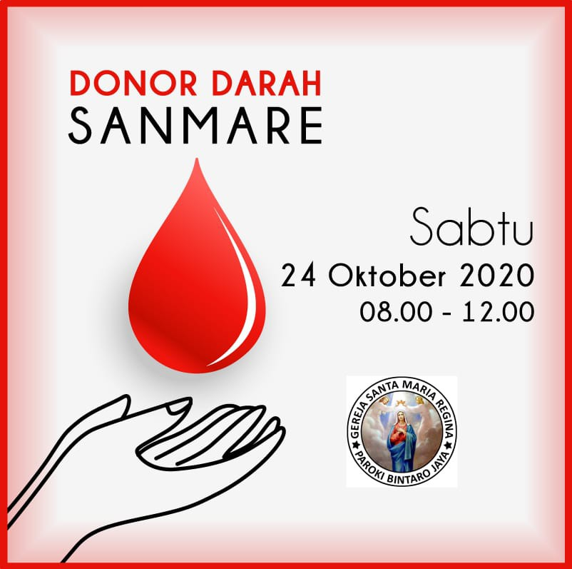 Donor Darah SanMaRe 24 Oktober 2020
